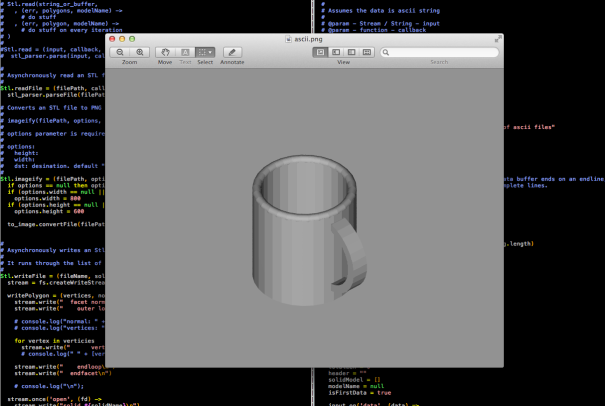 a coffee cup STL