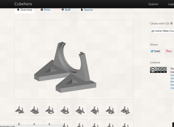 image of physible overview page showing resized images