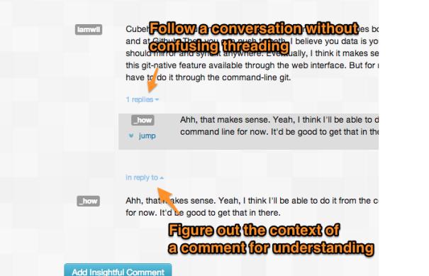 Follow conversations