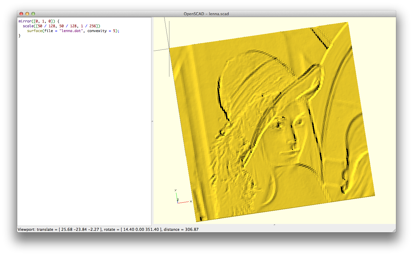 Emboss and impress images onto a surface in OpenSCAD