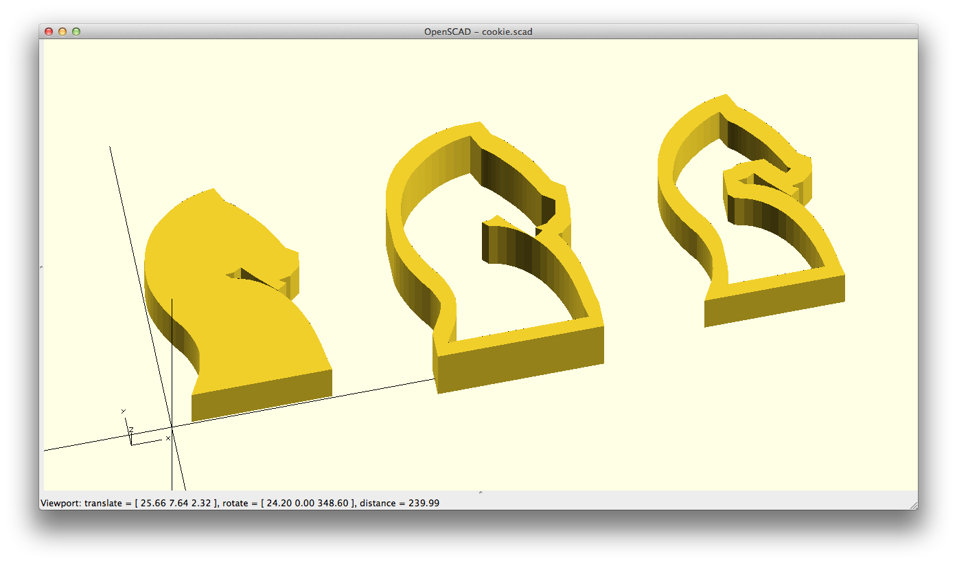 Creating cookie cutters using offsets (and minkowski sums