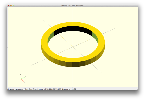 ring with cylinder